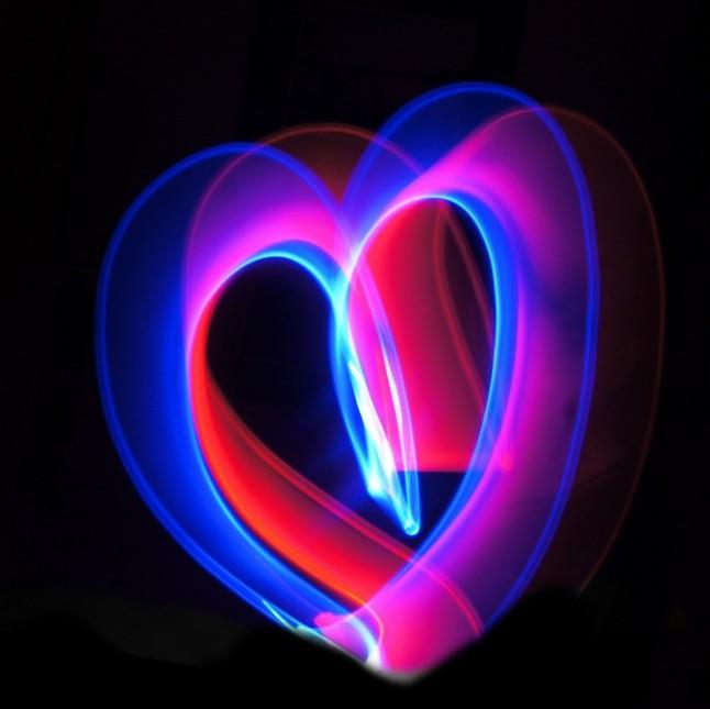 glow stick heart